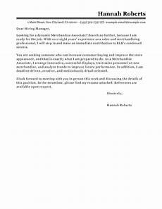 best merchandise associate cover letter exles livecareer