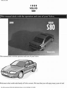 auto repair manual free download 1999 volvo s80 free book repair manuals 99 volvo s80 1999 owners manual download manuals technical