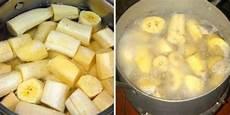 koche bananen vor dem schlafengehen trinke die