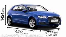 audi a3 länge dimensions of audi cars showing length width and height