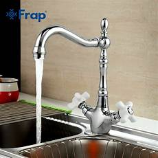 country style kitchen faucets frap elegance style kitchen faucet cold and water mixer 360 degree swivel ceramic