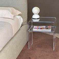 modern bedside tables acrylic clear perspex stand