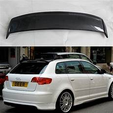 A3 8p Sportback Carbon Fiber Roof Lip Spoiler Wing For