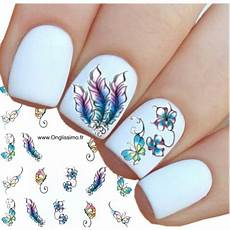Water Decal Pour Ongles Nail Papillon Plume Boutique