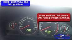 2002 2009 volvo s60 light reset service light