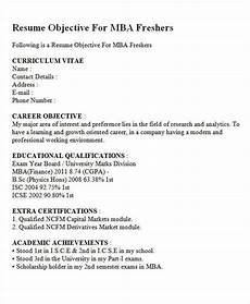 career objective for mba finance fresher resume resume objective resume exles