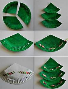 Bastelideen Für Kinder Weihnachten - basteln mit papptellern anleitung weihnachtsbaum