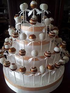 bronze and white cake pops my work creative cakepops