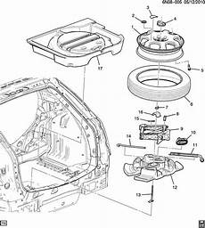 car manuals free online 2010 cadillac srx spare parts catalogs 2010 cadillac srx spare wheel stowage jack parts