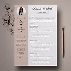 modern resume template cv template for ms word etsy