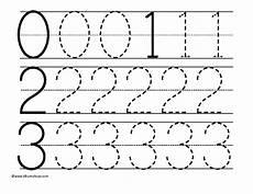 tracing numbers 0 3 worksheet for pre k kindergarten lesson planet