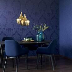 blaue tapeten casa padrino barock textiltapete blau 1005 x 053 m