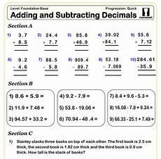 decimal worksheet adding and subtracting 7596 school order form cazoom maths worksheets