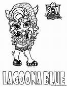 Coloring Pages Monster High  Lagoona Blue Free Printable
