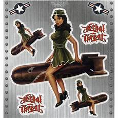 Pin Up 50er - nose 50 s miss usa pin up lethal threat army pin up