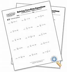 using multiplication solving two step equations worksheetworks com two step equations