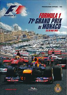 formula 1 2013 monaco grand prix program programme