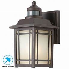 home decorators collection port oxford 1 light oil rubbed chestnut outdoor motion sensor wall