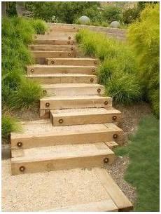Gartenweg Aus Holz - gartentreppe selber bauen 35 inspirationen garten
