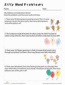 3rd grade math worksheet word problems subtraction silly word problems worksheet education