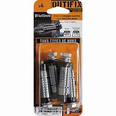 lot de 4 chevilles vis 224 expansion g2x outifix diam 14