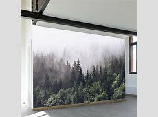 "Walls Need Love Misty Forest 11.6' x 96"" Wall Mural"