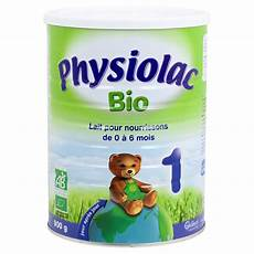 lait maternel sans huile de palme physiolac bio 1 au bisglycinate de fer lait biologique en poudre san