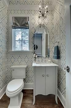 wallpaper ideas for small bathroom quatrefoil wallpaper contemporary bathroom great