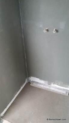 Duschbereich Ohne Fliesen - g 228 stebad rostfarben haupt bad in betonoptik hausbau in