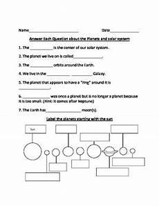 solar system worksheet by bryan teachers pay teachers