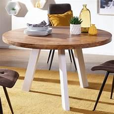 esszimmertisch massivholz esszimmertisch rund 130x130x77 cm online kaufen