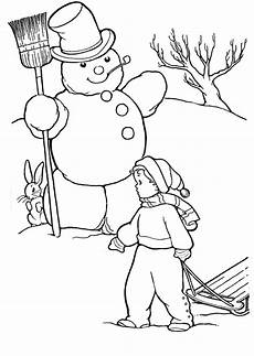 winter ausmalbilder malbuch vorlagen kostenlose