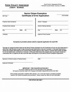 cook county senior exemption form fill out and sign printable pdf template signnow