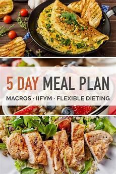 5 day macro dieting meal plan