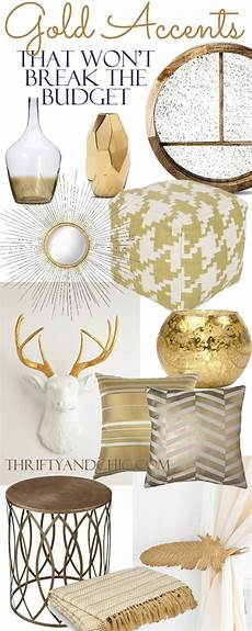 Home Decor Ideas Gold by 18 Gold Home Decor Pieces That Won T The Budget