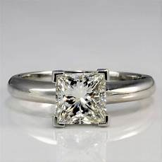 elegant square diamond engagement ring 1 28 ct sz 5