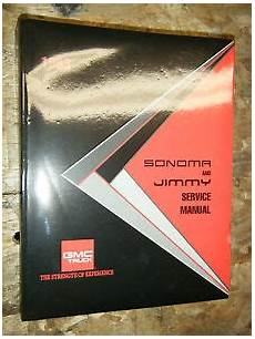free online auto service manuals 1993 gmc jimmy seat position control 1993 gmc s t truck jimmy sonoma original factory service manual shop repair s 15 ebay