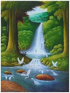 31 Lukisan Pemandangan Air Terjun Kanvas