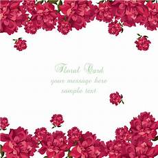 flower card design template floral card template vector free