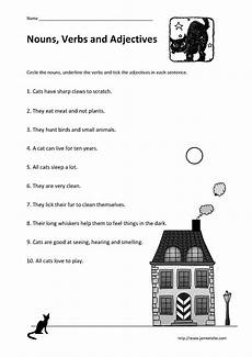 writing sentences with nouns verbs and adjectives worksheets 22120 sorting nouns and verbs worksheet free printables worksheet