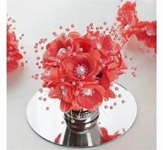 bouquet de fleurs en tissu corail les couleurs du
