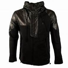 adidas y 3 adidas y 3 black leather mix jacket from brother2brother uk