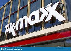 tk maxx shop sign editorial stock image image of