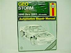 buy car manuals 1993 geo storm transmission control 1990 thru 1993 geo storm repair manual ebay