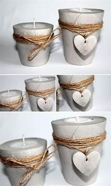 Diy Gips Beton Teelichthalter Mit Einem Herz Einfach