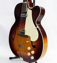 vintage silvertone electric guitars vintage 1959 1961 silvertone aristocrat electric hollowbody guitar made by reverb
