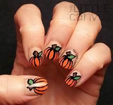 polishpals thanksgiving pumpkin nail art the little canvas