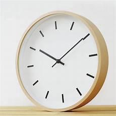 minimalist wood wall clock furniture on carousell