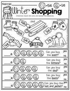 free printable money math worksheets for kindergarten 2686 pin by mccaskey on teaching money math winter math teaching money
