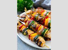 spicy chicken   sausage kabobs_image